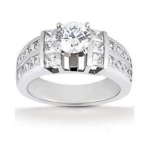3.01 carat diamonds anniversary ring white gold